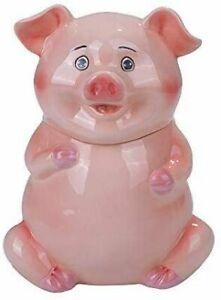 PT Cute Farm Pink Piggy Ceramic Cookies Storage Jar