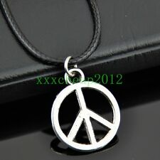 Fashion peace sign pendant necklace