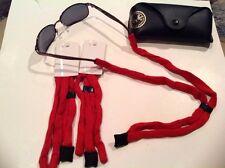 "4Sunglass Neck Strap Eyeglass Cord  Sunglass Holder RED New 24""STOCKING STUFFER"