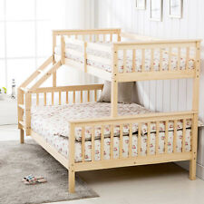 3FT Single 4FT6 Double Triple Sleeper Pine Bunk Bed Wooden Frame for Kids Adult