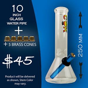 Glass bongs glass Pipe Glass oil pourer water pipe bongs Stem metal cone