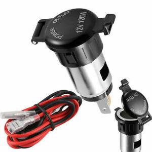 12V USB Car Cigarette Lighter Waterproof Socket Charger Power Adapter Cable Fuse