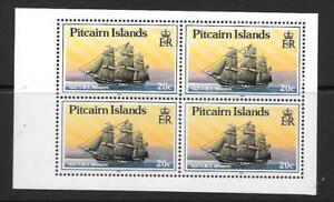 PITCAIRN ISLANDS SG369a 1990 20c HMS BLOSSOM BOOKLET PANE  MNH