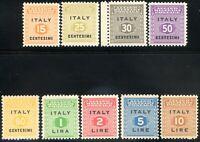 Occupazione Anglo-Americana - Sicilia 1943 S1 n. 1/9 ** (m852)