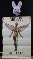 NIRVANA - IN UTERO - Affiche originale sortie album 1993 - Poster 120 x 80cm