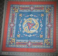 Vintage Native American Tribal Cotton/Polly Bandana Handkerchief Usa Wamcraft
