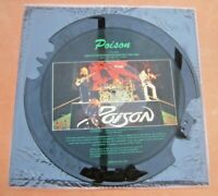 """1989 12"""" L/Ed Tell Tales Interview Shaped Picture Disc POISON TTS1013 VG+ to NM"""