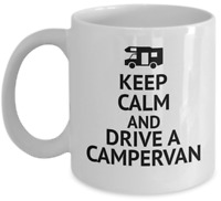CAMPING coffee mug - Keep calm and drive a campervan - Funny rv campers gift cup
