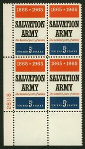 #1267 5c Salvation Army, Plate Block [28118 LL] Mint **ANY 5=FREE SHIPPING**