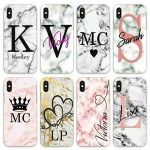 For iPhone 8/7/6/Plus/5s/XS/Max/XR/11 Pro Case Personalised initials startling
