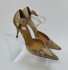 Stuart Weitzman Shoes Heels Pumps Snake Skin Gold Shimmer Womens Size 7.5 B