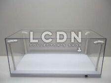 1/18 Led Lighted Display acrylic Plexiglas case vitrine box Showcase White base