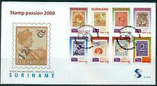 SURINAME UITGAVE 2008 FDC 314 A/B STAMP PASSION 2008.