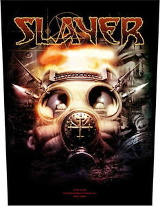 SLAYER Gas Mask Giant Sew On Back Patch Rock Official Merchandise