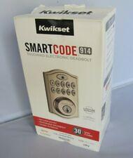 Kwikset 99140-014 Smartcode 914 Touchpad Deadbolt with ZigBee Satin Nickel