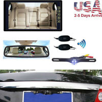 "9"" Car Auto Rear View Mirror Monitor+ HD IR Wireless Back Up Camera for vehicle"