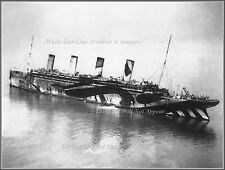 Photo: Grand Aerial: Troopship RMS Olympic In 'War Service' Camouflage, 1916
