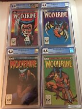 Wolverine Limited Series #1 2 3 4 - 1982 CGC NM SET LOT RUN w/ Custom Label