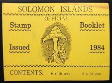 SOLOMON ISLANDS 1984 Fungi Booklet SB6 Cat £11 WHOLESALE LOT OF 20 BOOKS NF905
