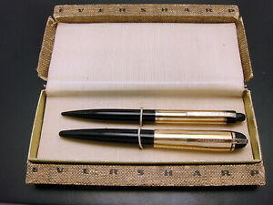 Vintage Eversharp Skyline Fountain Pen Mechanical Pencil Set In Original Box GF