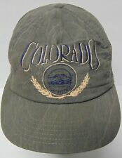 Vtg 1990s COLORADO Rockies Rocky Mountain Advertising SNAPBACK HAT CAP Made USA