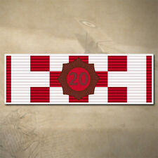 COUNTRY FIRE (CFA) MEDAL BAR - 20YR SERVICE  DECAL | STICKER | 90mm x 30mm