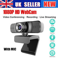 USB 2.0 Computer Webcam HD Video Camera PC Digital Webcam With HD Microphone UK+