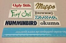 Fishing mini stickers (7), 7 little fishing decals, tackle box sticker brands