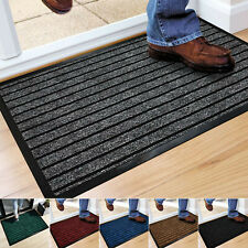 Heavy Duty Rubber Backed Mat Non Slip Hall Kitchen Back Door Mats Large & Small