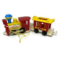 🔴 Vintage 1973 Fisher Price Little People Circus Train #991 Engine