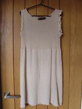 Zara Beige Dress Soft Stretchy Material Size M Medium (Ref Z) Ex Condition