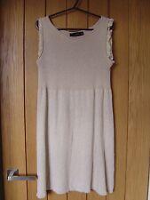 Zara Beige Dress Soft Stretchy Material Size M Medium (Ref Z) Ex Condition