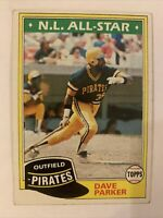 1981 Topps #640 Dave Parker-PIRATES