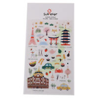 Tokyo daily Decorative Stationery Stickers Scrapbooking DIY Diary Album Labe Jf