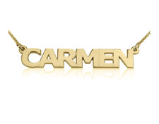 CAPITAL LETTERS NAME NECKLACE: 14K GOLD, 14K WHITE GOLD