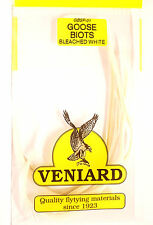 gebleicht WEISS Goose Biot Strips Veniard Prince Nymphe & Co Angelsport