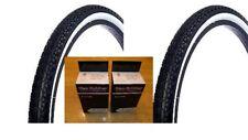 Two Vee Rubber 26x2.125 Beach Cruiser Diamond Pattern Tires White Wall + 2 tubes