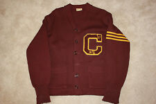 Vintage 1957 CENTRAL MICHIGAN Football Honus Wagner varsity Letterman sweater