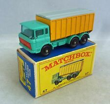 Lesney Matchbox Toys MB47c DAF Volquete Camión Turquesa