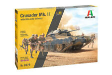 Italeri 6579 1/35 Crusader MK II With 8th Army Infantry Rubber Tracks and 5 Figu