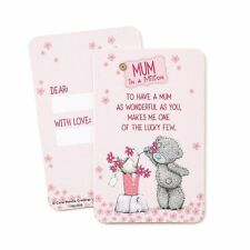 Mum In A Million Me to You Bear Keepsake Message Card...mty G01Q6523