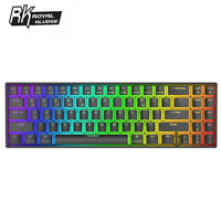 RK71 bluetooth USB Dual Mode RGB Backlight Mechanical Gaming Keyboard for PC ABS