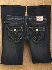 "TRUE RELIGION Women's Jeans JOEY BOOT CUT FLAP Stretch Low Rise sz 27 29"" W"