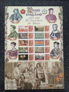 KINGS OF ENGLAND.1399-1485.HISTORY OF BRITAIN SHEET 16.HARD TO FIND.LOVELY SHEET