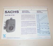 Typenblatt / Technische Daten Sachs Stationär Motor ST 204, ST 251 - Stand 1980!