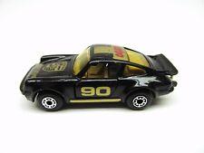 MATCHBOX MACAU SUPERFAST BLACK AND GOLD PORSCHE 911 TURBO MINT