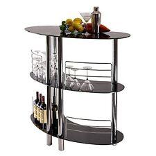 Corner Bar Cabinet Liquor Counter Wine Curved Shelves Home Pub Storage Furniture