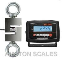 3000 LB S-TYPE LOAD CELL LCD INDICATOR HANGING CRANE SCALE TENSION OP 926 OPTIMA