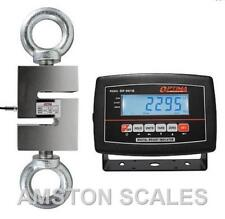 3000 LB S-TYPE LOAD CELL LCD INDICATOR HANGING CRANE SCALE TENSION COMPRESSION B