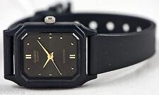 Casio LQ142E-1A Ladies Analog Watch Black Gold Classic New Free Shipping